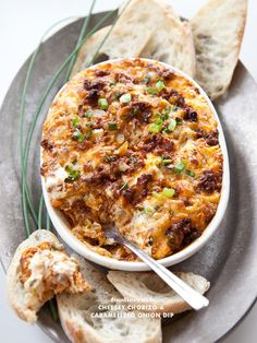 Cheesey Chorizo Caramelized Onion Dip