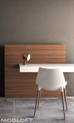 We wanted to create a desk that used as little a footprint as possible. The cantilever Walker desk by Modloft is both eye-catching and functional. Available in our quick-ship program for immediate delivery.