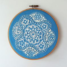 Embroidery hoop finishing by Smallest Forest, via Flickr
