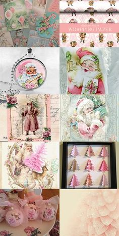 #Pink #Christmas Sugarplum Dreams I'm constantly thinking and dreaming of a pink Christmas.... #christmas #decorations #holidays #pink #victorian #mod #shabby #fugitivekatcreations