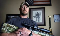 US Navy SEAL Chris Kyle, 38, (pictured) was murdered last Saturday by Eddie Routh, a former U.S. Marine veteran suffering from post-traumatic stress disorder.//.,mar16