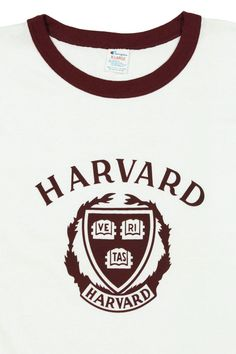 nos vtg  80s harvard university ringer t shirt large white crimson champion  new from  37.95 47faacb2a462