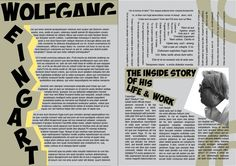 For this piece I had to research a particular graphic designer of interest to me. this being walfgang weingart, for this research i had to look at work by him and make my own magazine double page spread on his style ( with place holder fill text.) this was mostly made in Adobe illustrator and InDesign #DoublePageSpread #Typography #Graphics