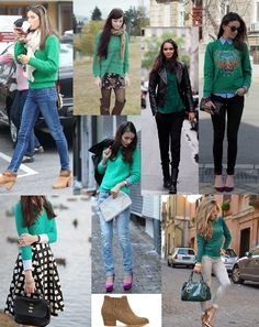 Emerald for fall 2013 I have to remind myself to wear my emerald sweater! Outfit ideas