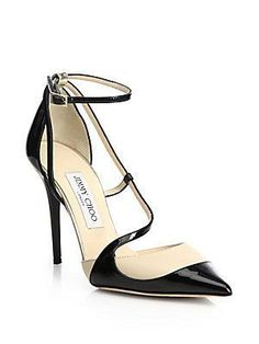 Jimmy Choo Strappy Two-Tone Leather Pumps. 2015./Ria #headoverheels