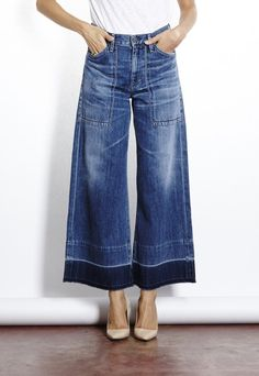 Citizens of Humanity Melanie Retro Wide Leg Jean Shop this look at  http://www.bucksanddoes.com/collections/womens-clothing/products/citizens-of-humanity-retro-melanie-wide-leg
