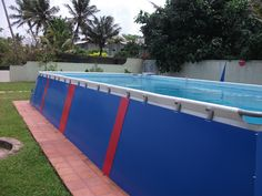 cladded intex ultra frame swimming pool - Intex Above Ground Pool Decks