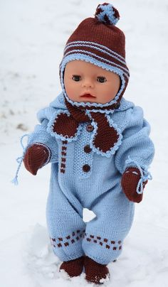 Baby Born clothes- knitted outfit