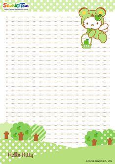 Hello Kitty Printable Stationary
