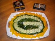 Green Bay Veggie Tray.. dont like them but that's cool! My fiance would definitely do this