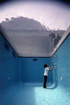 art instillation swimming pool  leandro erlich