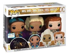 Whatsit from Disney's A Wrinkle In Time are now available as vinyl POP! This 3 pack is a Barnes & Noble Exclusive. Batman Figures, Funko Pop Figures, Vinyl Figures, A Wrinkle In Time, Mrs Whatsit, Funko Pop Dolls, Funk Pop, Figurine Pop, Bullet Journal School