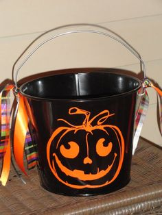 personalized halloween 5 qt metal pailbucket - Personalized Halloween Decorations