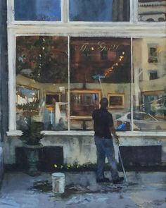 Keith Wicks painting, The Guild (Boston), 24x30