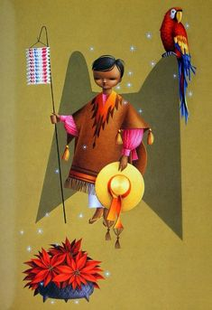These cards by Alejandro Rangel Hidalgo will remind you of those Christmas celebrations of your childhood. Best Christmas Presents, Christmas Fun, Vintage Christmas, Christmas Cards, Mexican Artists, Mexican Folk Art, Mexican Christmas Traditions, Fantasy Words, Three Wise Men