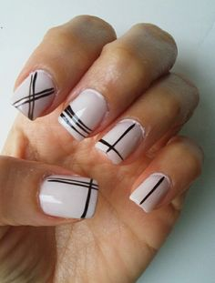 Black & white #nails #opi #steprightup #naildesigns #blackandwhite #simpledesign #ethnicnails #frenchiemanie