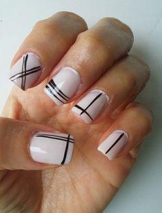 Black & white #nails #opi #steprightup #naildesigns #blackandwhite #simpledesign #ethnicnails #frenchiemanie