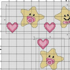 Cross Stitch Art, Cross Stitch Patterns, Baby Knitting Patterns, Baby Patterns, Crochet Baby, Knit Crochet, Creations, Kids Rugs, Embroidery