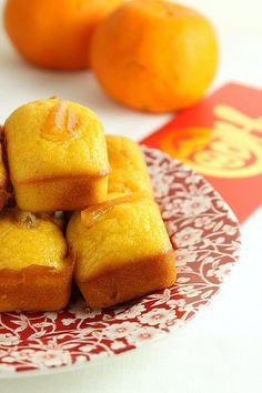Mandarin Friands (Chinese New Year, Lunar New Year, Prosperity Cakes)