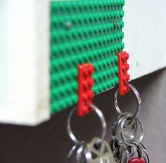 Living Creatively: Lego Keychain~This is Clever! I think you can buy the lego boards at Walmart or target?