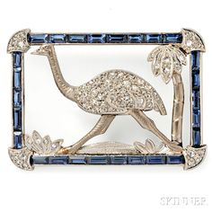 Whimsical Art Deco Brooch | Sale Number 2883B, Lot Number 543 | Skinner Auctioneers