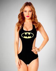c22b492ee1e Geek Fashion  Batman   Supergirl Swimsuits Plus Reversible Wonder Woman    Superman T-Shirts