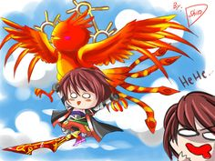 -Brave Frontier- Arus Phoenix glide by shirodebby on DeviantArt