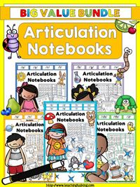 Articulation Notebooks Value Bundle - Year Round Therapy Materials for Mixed Articulation Groups by teachingtalking.com