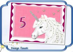 Einladungskarte Kindergeburtstag Einhorn von Jasuki auf DaWanda.com
