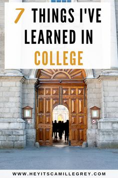 7 Things I've Learned in College | Hey Its Camille Grey #college #dorms #dormlife #student #collegestudent #freshman