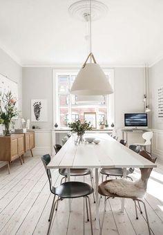 silla serie 7 Nordlux inspiración deco HAY fritz hansen estilonórdico DIY reciclaje y muebles daneses de diseño decoración nórdica Decoración de interiores comedor blog decoración interiores nórdicos arne jacobsen
