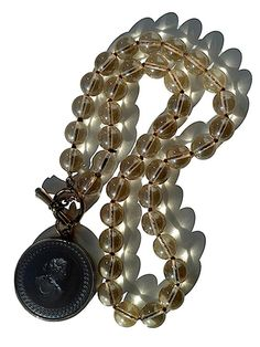 Necklace Intaglio Black Champagne Glass by Extasia from IMPERIO jp