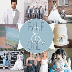 Blue And Gray Wedding Palette