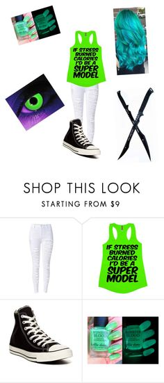 """""""radioactive oc creepypasta"""" by angel-with-black-wings ❤ liked on Polyvore featuring Converse"""