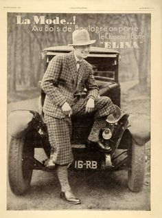 Plus Fours.  What a great vintage look. Could you be brave enough to wear this out now?