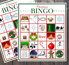 kids christmas bingo printable