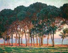 Under the Pine Trees at the End of the Day - Claude Monet 1888