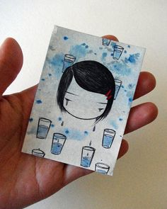 """number 86 of """"100 little faces"""" by Stasia Burrington"""