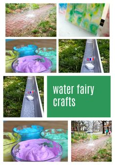 These crafts all involve water, and we hope they will inspire your own little water fairies to create something slow and steady — or explosively fun! Sparkle Stories, Sparkle Crafts, Water Fairy, Fairy Crafts, Summer Crafts, Water Crafts, Fairies, Inspire, Create