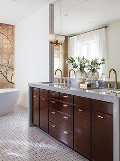 Theresa Casey bathroom \\ waterfall counter