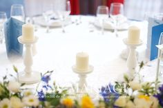 Grand Hotel, Christening, Candles, Table Decorations, Home Decor, Decoration Home, Room Decor, Candy, Candle Sticks