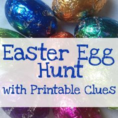 Easter Egg Hunt with Clues - free printable clues for a simple Easter hunt for the kids