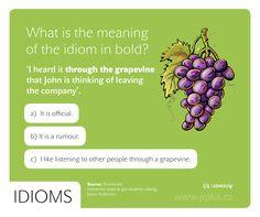 Idiom - Through the grapevine