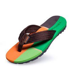 53bcb9012 Men Summer Flip Flop Designer Brand Flip Flops Shoes Sandale Homme Slipper  Sapatos Size 39 to 45 Black Dark Blue Brown