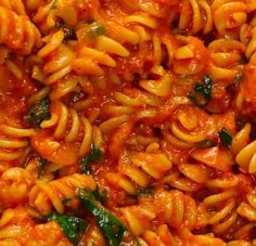 Servings: 4-6INGREDIENTS2 tablespoons oil, divided1 sweet onion, diced1 16 ounce jar roasted red peppers, drained and roughly chopped3 cloves garlic, mincedSalt, to taste1 teaspoon dried oregano½ teaspoon paprika½ teaspoon pepper1 cup vegetable broth ¾ cup almond milk8 ounces whole wheat pasta,¼ cup basil, plus more for garnish, roughly choppedPREPARATION1. Heat 1 tablespoon of oil in a large pan over medium high heat.2. Add the onions, roasted peppers, garlic, salt, oregano, paprika, and…