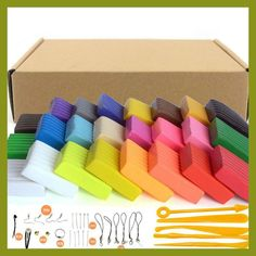 24Color 500g Polymer Clay Slime Blocks Kids Plasticine DIY Toy Soft Fimo Playdough Light Clay Plasticine Oven Bake Putty Sculpey