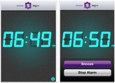 Snooze is an alarm clock app for your iPhone, iPod Touch or iPad that pledges $ 0.25 of your own money to charity every time you hit the snooze button. Users set a desired charity and the app will calculate how many times you hit snooze // I like this!