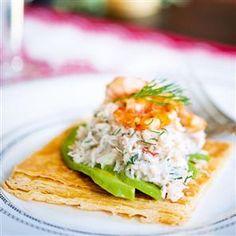 Crab and avocado tart Recipe   delicious. Magazine free recipes