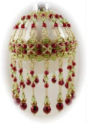 Free Beaded Ornament Cover Patterns | Beaded Christmas Ornaments ...