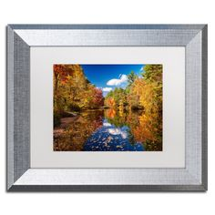 Michael Blanchette Photography 'River Mirage' Matted Framed Art
